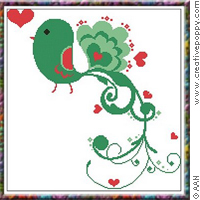 Passerollo in Love - cross stitch pattern - by Alessandra Adelaide Needleworks