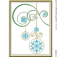 Natale - Xmas ornaments - cross stitch pattern - by Alessandra Adelaide Needleworks