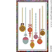 Navidad - Xmas ornaments - cross stitch pattern - by Alessandra Adelaide Needleworks