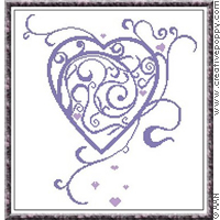 Curly hearts - cross stitch pattern - by Alessandra Adelaide Needleworks