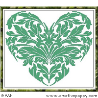 Leaf heart - cross stitch pattern - by Alessandra Adelaide Needleworks
