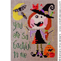 Ofelia buttoneye - cross stitch pattern - by Barbara Ana Designs