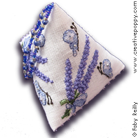Lavender Bouquet Humbug - cross stitch pattern - by Faby Reilly Designs