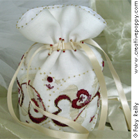 Love Bridesmaid Pouch - cross stitch pattern - by Faby Reilly Designs