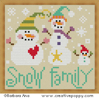 The Snow family - cross stitch pattern - by Barbara Ana Designs
