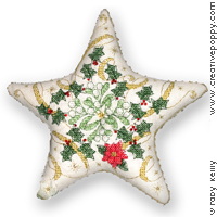 Christmas Star - cross stitch pattern - by Faby Reilly Designs
