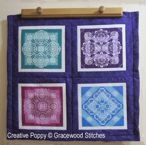 Tutorial: how to make a 4-block quilt cross stitch pattern by Gracewood Stitches