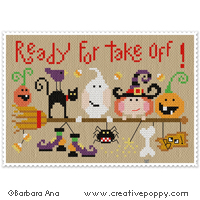 Ready for take-off - cross stitch pattern - by Barbara Ana Designs