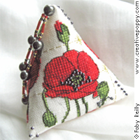 Poppy Humbug, counted cross stitch chart, designed by Faby Reilly Designs