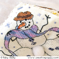Cross stitch patterns featuring Snowmen