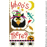 Whoo's there? - cross stitch pattern - by Barbara Ana Designs
