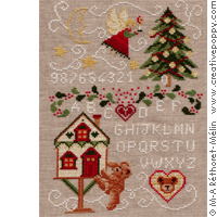 The night before Christmas, counted cross stitch chart, designed by Marie-Anne Rethoret-Melin