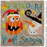 Wrong Season (oops!) - cross stitch pattern - by Barbara Ana Designs