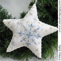 Frosty star (Xmas ornament) - cross stitch pattern - by Faby Reilly Designs