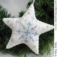 Frosty star (Xmas ornament) - cross stitch pattern - by Faby Reilly Designs