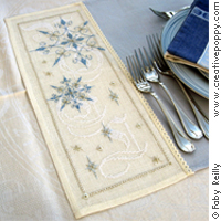 Frosty table mat