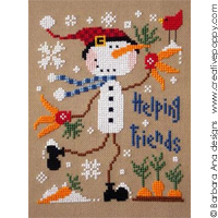 Helping friends - cross stitch pattern - by Barbara Ana Designs