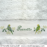 The parakeets - design for hand towel