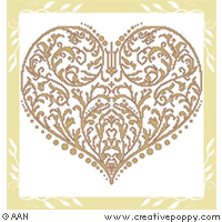 Rinascimental Heart - cross stitch pattern - by Alessandra Adelaide Needleworks
