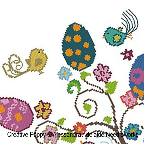 <b>Easter tree</b><br>cross stitch pattern<br>by <b>Alessandra Adelaide Needleworks</b>