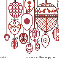 <b>Easter in Red</b><br>cross stitch pattern<br>by <b>Alessandra Adelaide Needleworks</b>