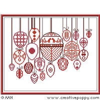 Easter in Red - cross stitch pattern - by Alessandra Adelaide Needleworks