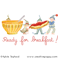 Ready for breakfast (bowl) - cross stitch pattern - by Sylvie Teytaud