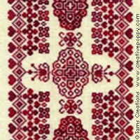 <b>Floribunda</b><br>cross stitch pattern<br>by <b>Tam\'s Creations</b>