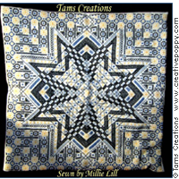 Starmania - Blackwork  pattern - by Tam's Creations