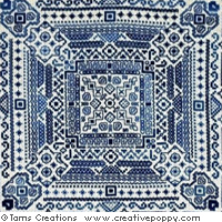 Magical nights - Blackwork  pattern - by Tam's Creations (zoom 1)