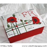 Poppy Box & Alphabet - cross stitch pattern - by Faby Reilly Designs