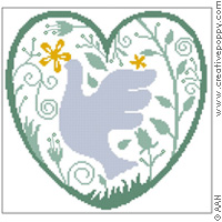 <b>Heart of Dove</b><br>cross stitch pattern<br>by <b>Alessandra Adelaide Needleworks</b>