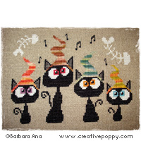 Alley Quartet - cross stitch pattern - by Barbara Ana Designs