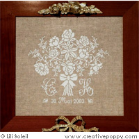 Bride's Bouquet  cross stitch pattern by Lili Soleil Designs