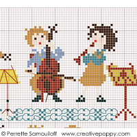 Arts, Music and Dance patterns to cross stitch