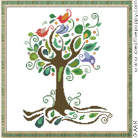 Tree of fantasy - cross stitch pattern - by Alessandra Adelaide Needleworks
