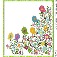 The nest - cross stitch pattern - by Alessandra Adelaide Needleworks