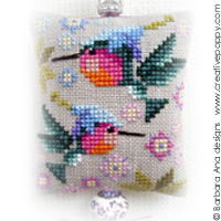 Hummingbird Scissor fob - cross stitch pattern - by Barbara Ana Designs (zoom 1)