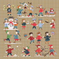 <b>Happy Childhood collection  - Winter</b><br>cross stitch pattern<br>by <b>Perrette Samouiloff</b>