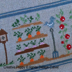 Agnès Delage-Calvet -  A story Told in Stitches: A Day in the Garden - counted cross stitch pattern chart