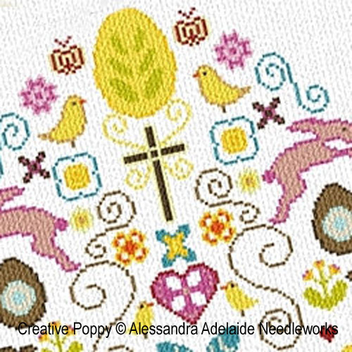 Alessandra Adelaide Needlework - Happy Easter (cross stitch pattern)