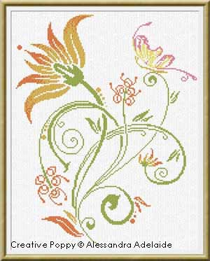 Alessandra Adelaide Needlework - Summer flower (cross stitch pattern)