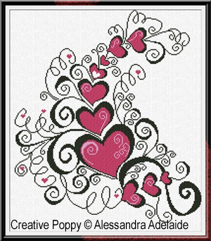 AmoreAmore, counted cross stitch chart, designed by Alessandra Adelaide