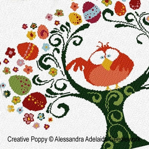 Alessandra Adelaide Needlework -  Easter is here (cross stitch pattern)