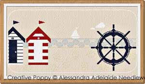 Sea banner 1 cross stitch pattern by Alessandra Adelaide Needleworks