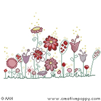 <b>Spring corner</b><br>cross stitch pattern<br>by <b>Alessandra Adelaide Needleworks</b>