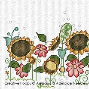 cross stitch patterns with sunflowers