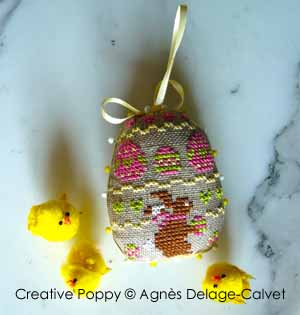 Little Easter bunnies - 4 small ornament motifs