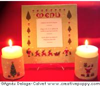 Christmas Decor set (3 patterns) - cross stitch pattern - by Agnès Delage-Calvet (zoom 1)