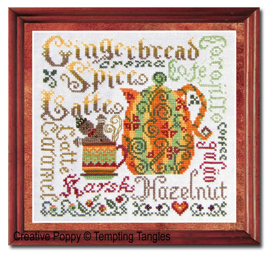 Tempting Tangles - Autumn Aromas (cross stitch chart)